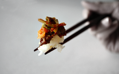 Korean Food on Chopsticks