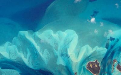 Window Seat - Turquoise Swirls in the Caribbean