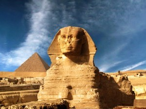 Sphinx & Pyramid, Giza, Egypt