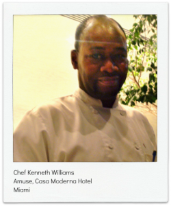 Chef Kenneth Williams, Amuse Restaurant, Miami, Florida