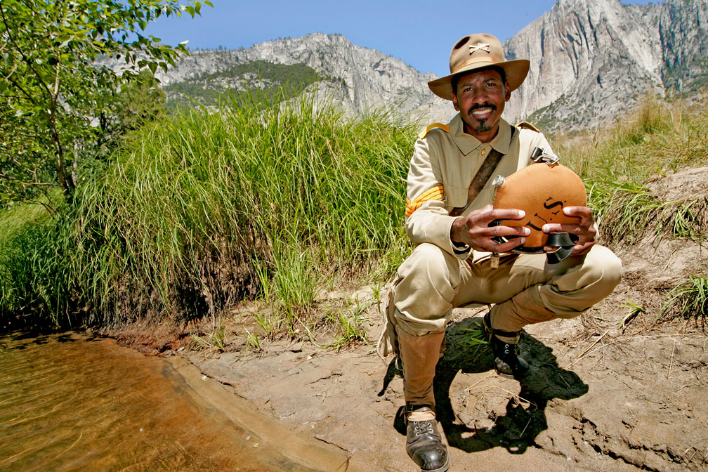 Shelton Johnson, African-American Park Ranger at Yosemite National Park.