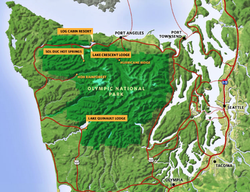 Map Of Olympic National Park And The Surrounding Region