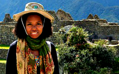 KimReyes at Macchu Picchu in Peru