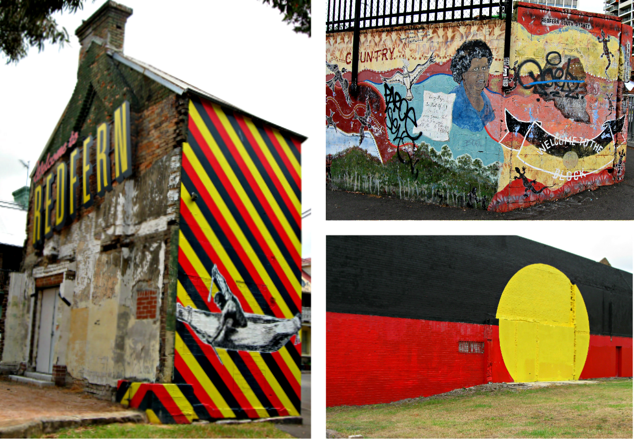 Australia day celebrating black pride down under for Australian mural