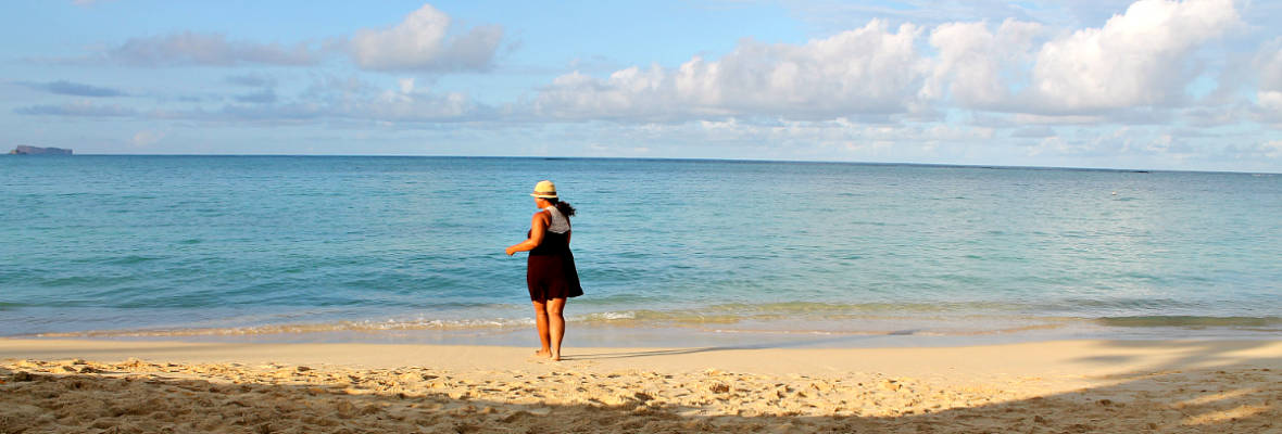 Jessica Fenton of Turquoise Compass enjoying the beach in Puerto Rico.