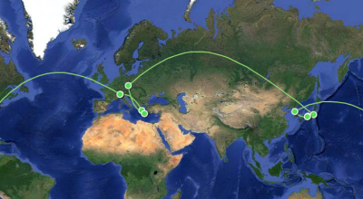 Chelle's Round The World (RTW) Trip Route Map
