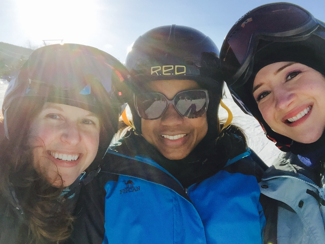 Tausha and her girls hitting the slopes in the Poconos. [photo credit:  [The Globe Getter]