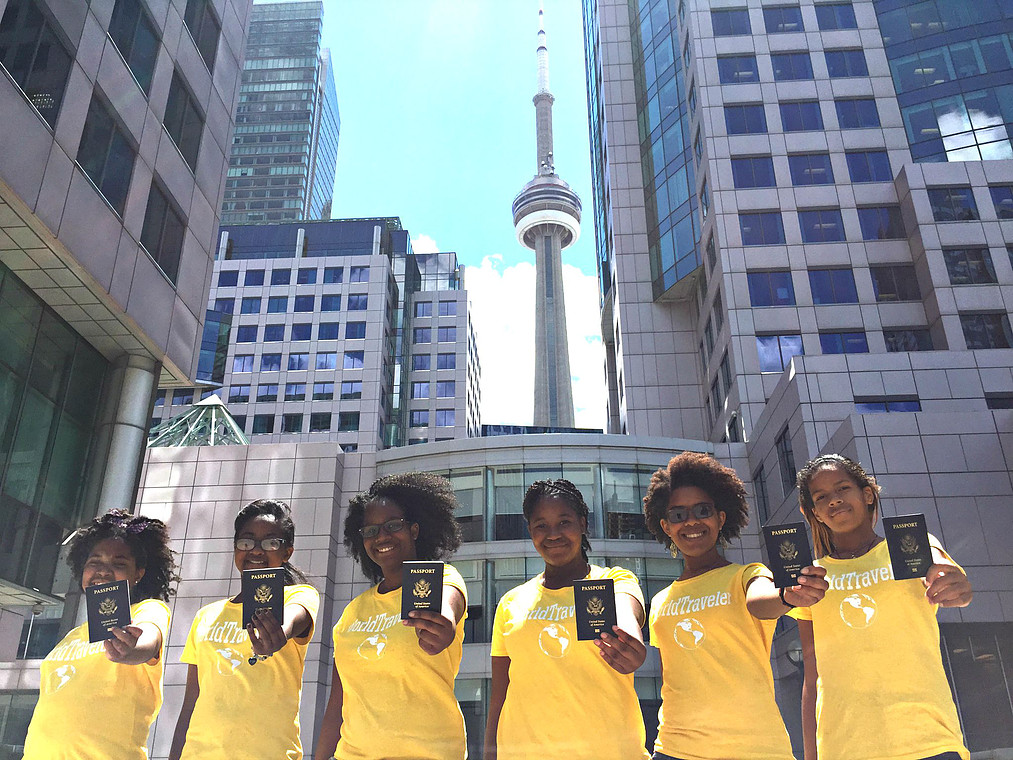 Teen Travel Ambassadors from Passport Party Project Phase 2 enjoying Toronto, Canada
