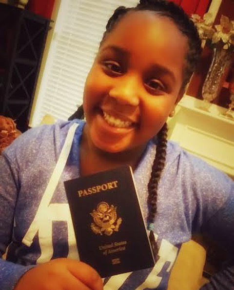 My PPP Phase 3 mentee, Mikaela, psyched to receive her first passport.