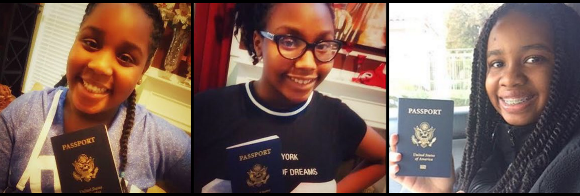Passport Party Project Phase3 - Featured Teen Travel Ambassadors With Passports